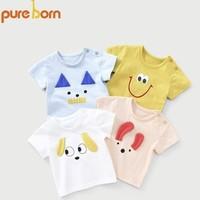 pureborn 博睿恩 宝宝印花短袖T恤