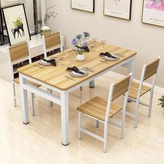 LISM 饭店快餐桌餐桌椅组合家用饭桌小户型 80*50*74cm