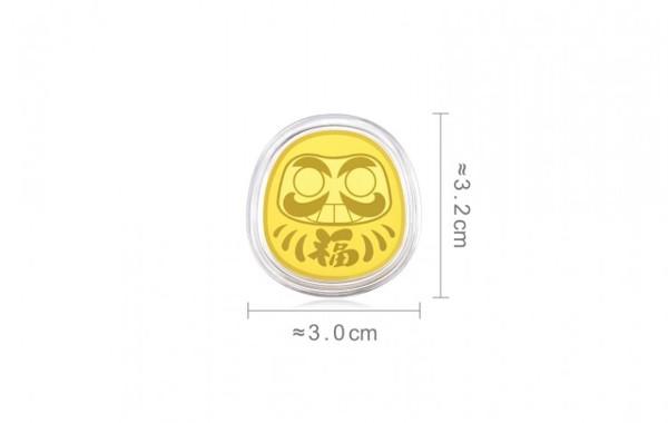 周生生 Au999.9 黄金金条金片 招福达摩款