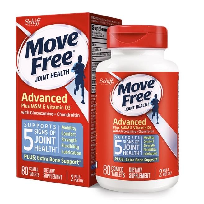 Move Free益节蓝瓶 氨糖 80粒*2瓶