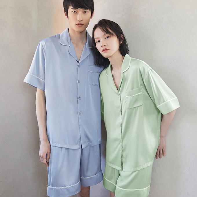 DAPU 大朴 AE1F12103 情侣冰丝短袖睡衣套装