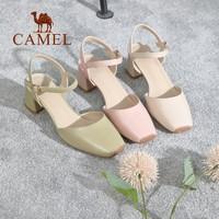 CAMEL 骆驼 A11549629 女士一字扣带高跟凉鞋