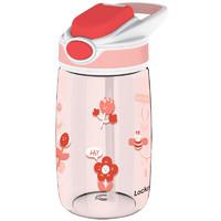 LOCK&LOCK 乐扣乐扣 吸管杯儿童水杯塑料杯子tritan材质手拎户外便携运动杯400ml红色