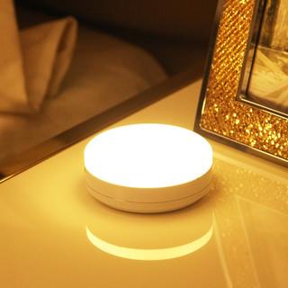 QIFAN 启梵 led人体感应小夜灯卧室衣柜楼道起夜神器光控红外lde灯 高配电池款送电池白光