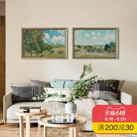 上品印画 西斯莱草地 欧式沙发背景墙客厅挂画装饰画墙壁画墙画框