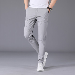 SIMPLE LIFE 2021春夏男士休闲裤纯色简约男式直筒长裤舒适运动百搭男裤子