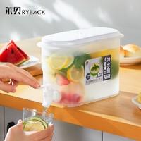 RYBACK 莱贝 日式凉水壶 3.5L(蓝色龙头开关)