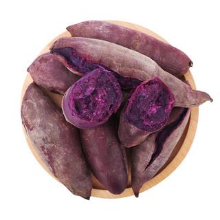 京东PLUS会员 : 静益乐源 新鲜农家紫薯 2.5斤中大果
