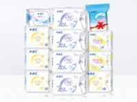 ABC 绵柔亲肤卫生巾 日夜组合套装 11包 82片(赠2包)