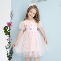 I.K 印象童年 新款女童夏季蓬蓬纱爱莎公主裙小女孩甜美连衣裙洋气