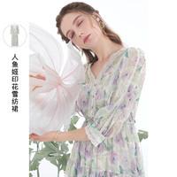 3COLOUR 三彩 旗袍2021夏季新款中国风盘扣连衣裙