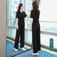 丝柏舍 2021夏装新款上衣搭裤子休闲套装女时尚