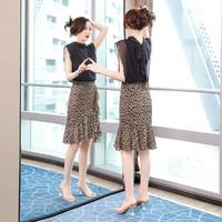 丝柏舍 夏新款女士性感上衣搭鱼尾半身裙两件套