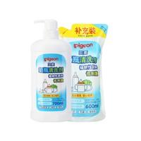 Pigeon 贝亲 宝宝清洁剂 700ml*1瓶+600ml*1袋