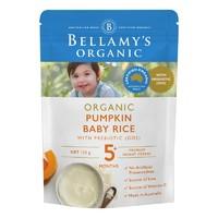 BELLAMY'S 贝拉米 婴幼儿有机辅食米粉米糊 南瓜味 125克/袋
