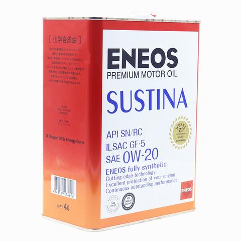 新日石(ENEOS)引能仕SUSTINA速驰耐0W-20 SN级4L 全合成机油 日本进口