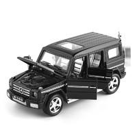 西克里 奔驰G500合金车模型 灯光音乐回力6开门