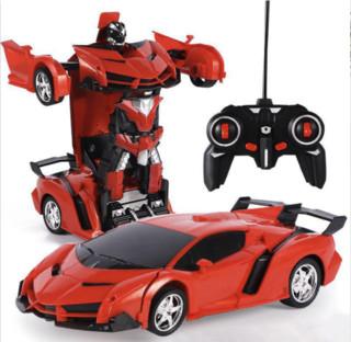 哦咯 变形汽车机器人 遥控车赛车