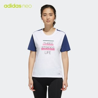 adidas 阿迪达斯 官网adidas neo W SS TEE 2女运动短袖T恤FN6549