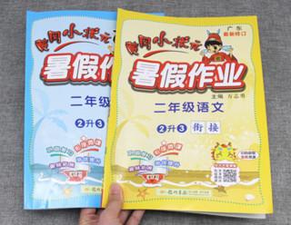 《黄冈小状元·暑假作业 小学二年级 语文+数学》(人教版 共两本)赠笔记本