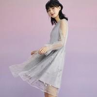 LEDIN 乐町 小王子联名 CWFAA421686 女士刺绣连衣裙