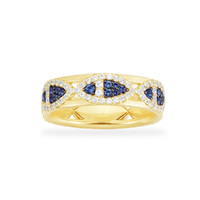 APM Monaco 小鱼金黄色镶晶钻生动可爱银戒指可叠戴A20042XKBY