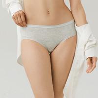Purcotton 全棉时代 新款女士内裤甜美印花可爱学生平筋中腰三角裤