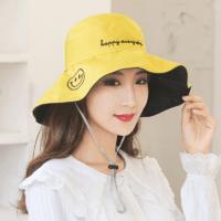HOCR 笑脸渔夫帽 黄色+黑