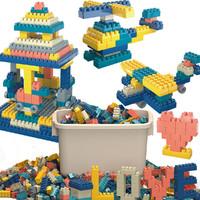 积木玩具男女孩拼插拼装积木桌面玩具益智加厚
