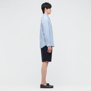 UNIQLO 优衣库 男装 法国麻衬衫(长袖春夏轻薄透气) 436419