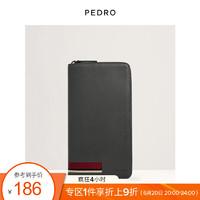 Pedro PEDRO男包男士拼色条纹饰长款钱包PM4-35940038 深灰色 L