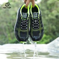 TECTOP 探拓 溯溪鞋 男女户外网布透气排水运动鞋 出游登山休闲鞋202167 男款黑色/荧光绿43