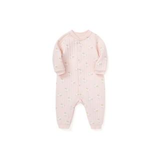 balabala 巴拉巴拉 婴儿衣服宝宝连体衣新生儿和尚服0-1岁爬服夹棉保暖开裆 红白色调0361 80cm
