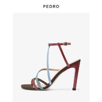 Pedro PEDRO女鞋女士交叉绊带饰高跟露趾凉鞋PW1-26630002 Taupe灰褐色 34
