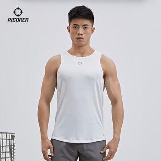 RIGORER 准者 2021新款运动背心男士篮球跑步训练健身肌肉透气修身无袖T恤