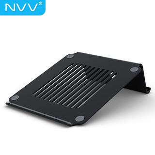 NVV 笔记本支架电脑支架散热器 护颈椎电脑显示器桌增高置物架 NP-1商务黑