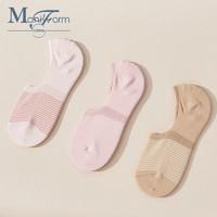 曼妮芬棉质生活 推荐曼妮芬棉质生活3双装短款船袜低帮隐形女船袜