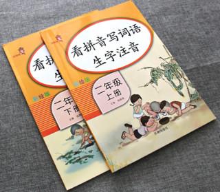 《 看拼音写词语生字注音二年级上下册2本同步训练》