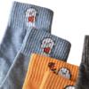 Langsha 浪莎 女士娃娃款中筒棉袜套装 XZ9919096 5双装(黑色+深灰+焦黄+浅蓝+枣红) 34-38