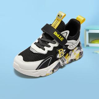 BeLLE 百丽 潮酷时尚个性儿童运动鞋夏季新品飞织网面透气跑步鞋男童休闲鞋子