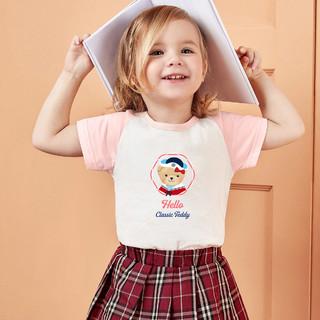 CLASSIC TEDDY 精典泰迪 2021夏款男女童t恤儿童短袖t恤上衣