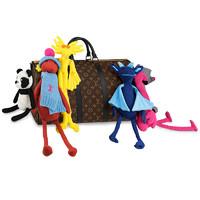 LOUIS VUITTON 路易威登 Louis Vuitton路易威登男包2021春夏系列KEEPALL 50 旅行袋取材帆布和哑光皮革饰边钩针卡通玩偶M45631