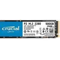 Prime会员:Crucial 英睿达 crucial 英睿达 P2 CT500P2SSD8 500GB 固态硬盘(3D NAND,NVMe,PCIe,M.2)