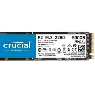 Prime会员 : Crucial 英睿达 P2 CT500P2SSD8 500GB 固态硬盘(3D NAND,NVMe,PCIe,M.2)