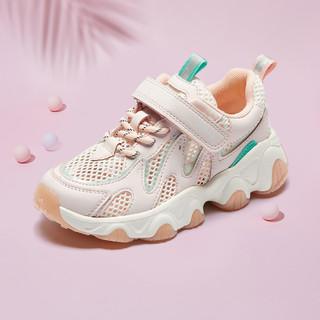BeLLE 百丽 2021夏季新款女童运动鞋儿童透气网面休闲老爹鞋中大童鞋子