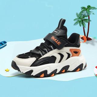BeLLE 百丽 2021年夏季新款童鞋儿童运动鞋透气中大童休闲鞋子男童老爹鞋
