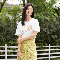eifini 伊芙丽 1C5901631本白色 女士短袖T恤