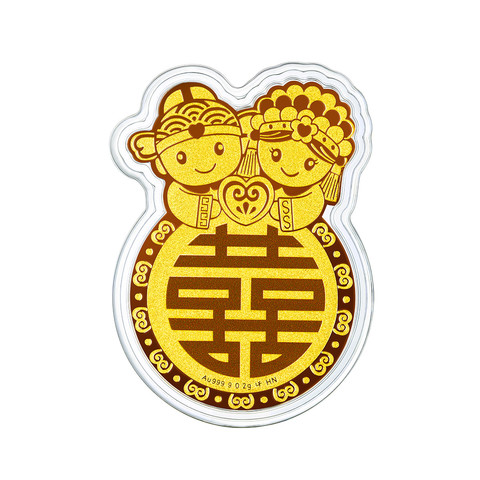 六福珠宝 HNA10045 金章纪念币 0.2g