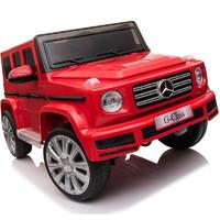 BeRica 贝瑞佳 JJ2077 四驱奔驰儿童电动车 红色 皮座椅软轮款
