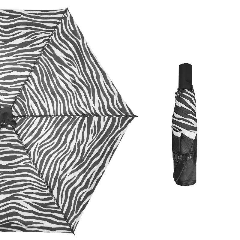 鱼中飞 折叠晴雨伞 斑马纹 手动款